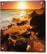 Rocky Shoreline In Hawaii Acrylic Print