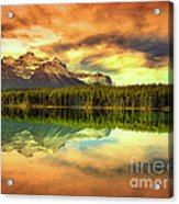 Rocky Sunrise Acrylic Print
