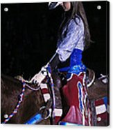 Rodeo Cowgirl Acrylic Print
