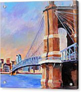 Roebling Twilight Acrylic Print