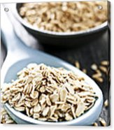 Rolled Oats And Oat Groats Acrylic Print by Elena Elisseeva