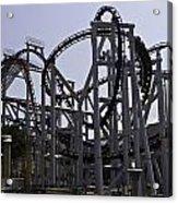 Roller Coaster Rides Inside The Universal Studio Park In Sentosa Acrylic Print