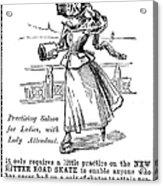 Roller Skates, 1896 Acrylic Print
