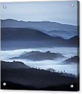 Rolling Hills In The Fog, Rwanda, Africa Acrylic Print