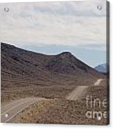 Rolling Two Lane Highway Acrylic Print by Ei Katsumata