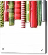 Rolls Of Colored Wrapping  Paper On White3 Acrylic Print
