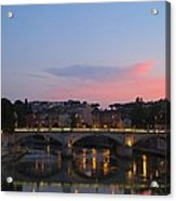 Roma Sunset Acrylic Print by Tia Anderson-Esguerra