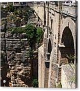 Roman Bridge Of Ronda Acrylic Print