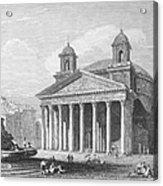 Roman Pantheon, 1833 Acrylic Print