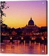 Roman Sunset Acrylic Print by Karl Borg