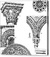 Romanesque Ornament Acrylic Print