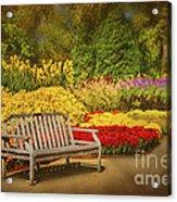 Romantic Flower Garden  Acrylic Print