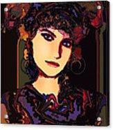 Romantic Lady Acrylic Print