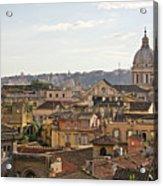 Rome Cityscape Acrylic Print by Marco Poggioli