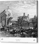 Rome: Ponte Rotto, 1833 Acrylic Print by Granger