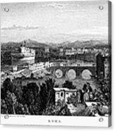 Rome: Scenic View, 1833 Acrylic Print