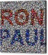 Ron Paul Button Mosaic Acrylic Print