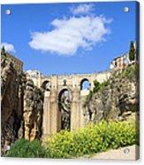 Ronda Bridge In Spain Acrylic Print
