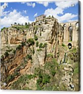 Ronda Rocks In Andalusia Acrylic Print