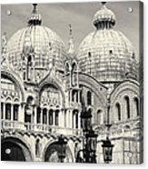 Roof And Facade Of St Mark Basilica  Acrylic Print