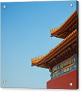 Roof Of Forbidden City, Beijing, China Acrylic Print