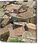 Roofs Of Provence Acrylic Print by Bernard Gaillot