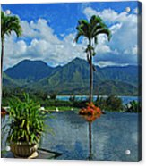 Rooftop Fountain In Paradise Acrylic Print