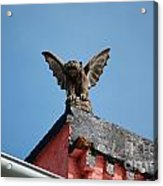 Rooftop Gargoyle Statue Above French Quarter New Orleans Acrylic Print