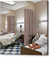Room In Nursing School Acrylic Print by Skip Nall
