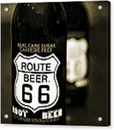 Root Beer Acrylic Print by Malania Hammer