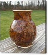 Root Beer Vase Acrylic Print by Monika Hood
