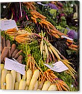 Root Vegetables At The Market Acrylic Print