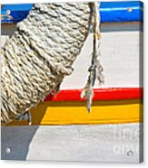 Rope And Boat Detail Acrylic Print