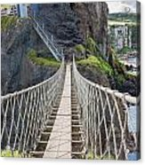 Rope Bridge At Carrick-a-rede In Northern Island Acrylic Print