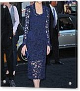 Rose Byrne Wearing A Marc Jacobs Dress Acrylic Print by Everett