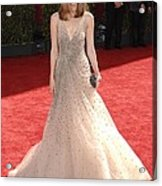 Rose Byrne Wearing A Valentino Gown Acrylic Print by Everett