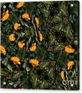 Rose Kaleidoscopic Mirror  Acrylic Print