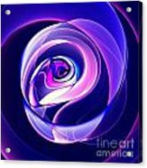 Rose Series - Violet-colored Acrylic Print