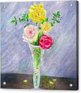 Roses In A Vase Acrylic Print