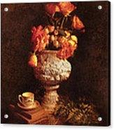 Roses In Urn Acrylic Print