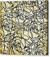 Roses Pattern Acrylic Print by Setsiri Silapasuwanchai