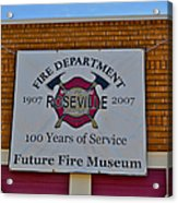 Roseville Fire Department Museum Acrylic Print
