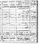 Rossini Manuscript Page Acrylic Print