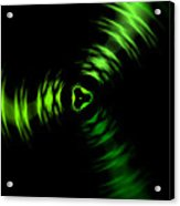 Rotation Green Acrylic Print by Steve K
