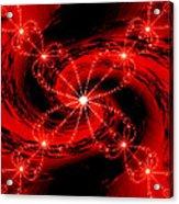 Rouge Et Noir Avec Blanc Acrylic Print
