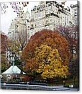 Round Autumn Trees Acrylic Print