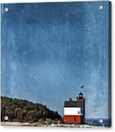 Round Island Lighthouse In Michigan Acrylic Print