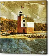 Round Island Lighthouse Acrylic Print