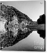 Round The Bend Buffalo River In Black And White Acrylic Print