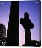 Round Tower And High Cross Acrylic Print